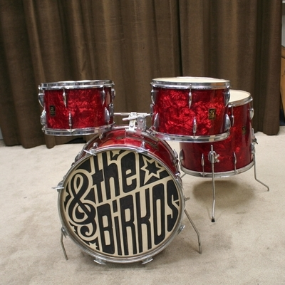 apollo japan red swirl 20/12/13/16 vintage shellset