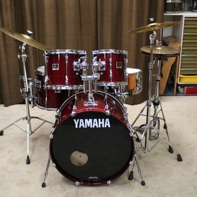 yamaha stage custom wine red 22/10/12/14/14sn bekkenset