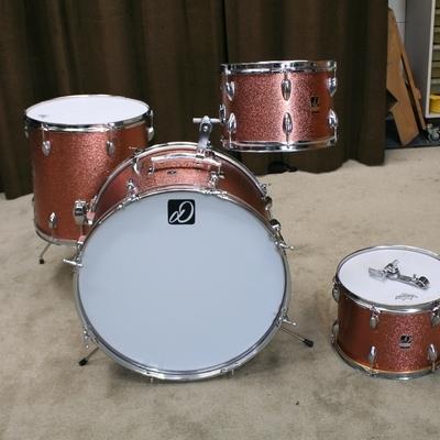drummate copper vintage shellset 22/12/13/16