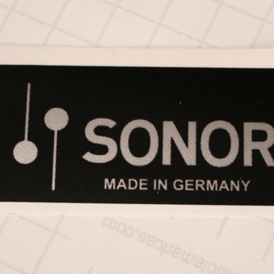 sonor stick on badge