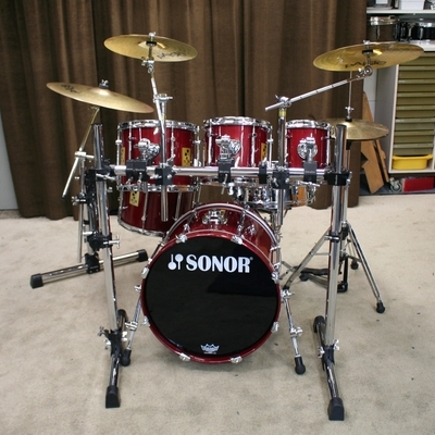 sonor force 3000 red 20/8/10/12/14/14sn bekkenset