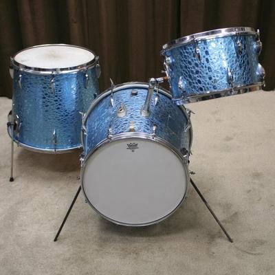 trixon telstar 200 blue croco vintage shellset 20/13/16
