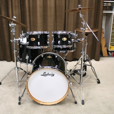 ludwig centennial black all maple 20/10/12/16/13sn bekkenset