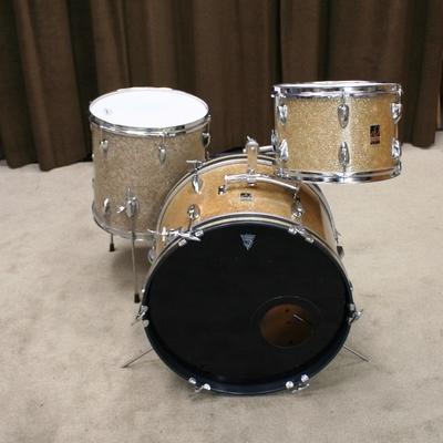 drummate/star vintage gold sparkle shellset 20/12/14