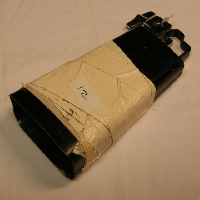 Cowbell 12 zwart 16,5 cm