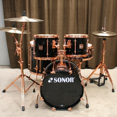 sonor hilite exclusive copper black 20/12/13/16/14sn hardware