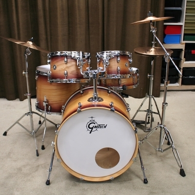gretsch catalina ash walnut natural burst 22/10/12/16/14sn bekkenset
