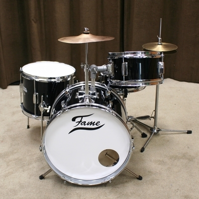 junior drumstel basix / fame zwart 16/10/10/12