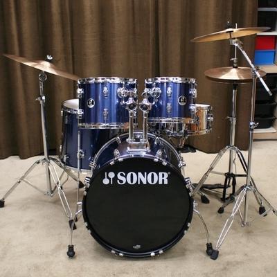 sonor force 507 blauw 20/10/12/14/14sn bekkenset